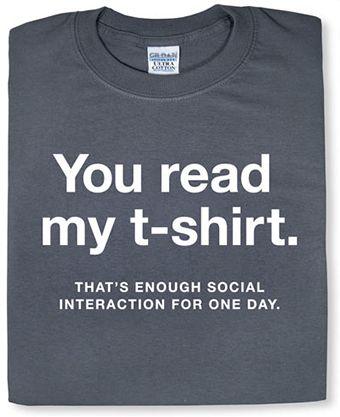 Mots et T-shirt